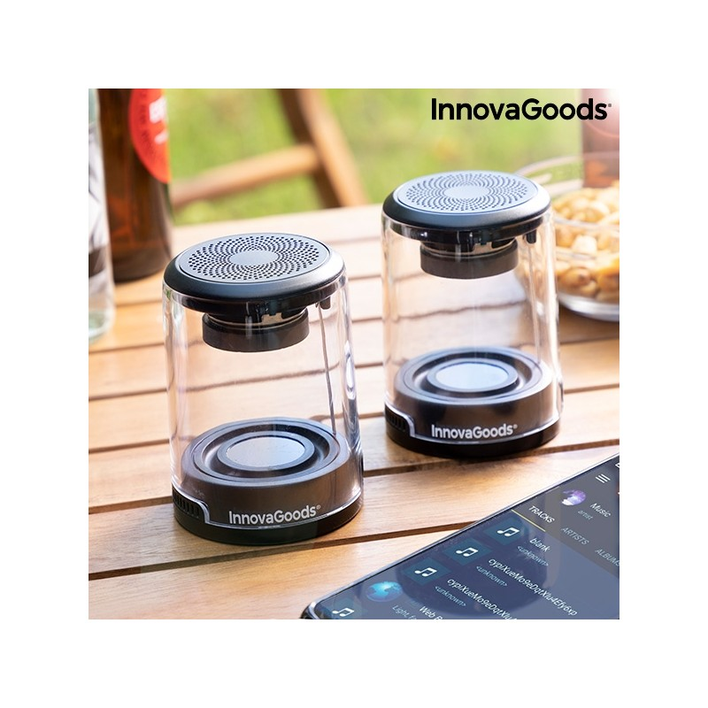 RECHARGEABLE MAGNETIC WIRELESS SPEAKERS WAVEKER INNOVAGOODS PACK OF 2 UNITS