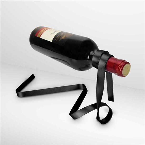 WINE HOLDER RIBBON BLACK
